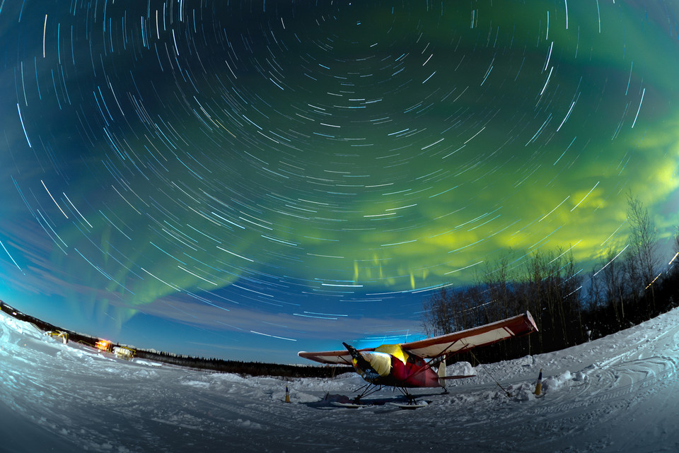 Northern Lights and star trail