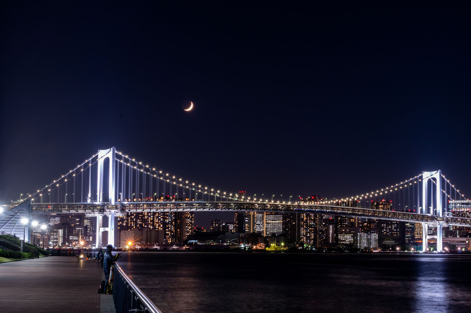 Moonset@Rainbow Bridge