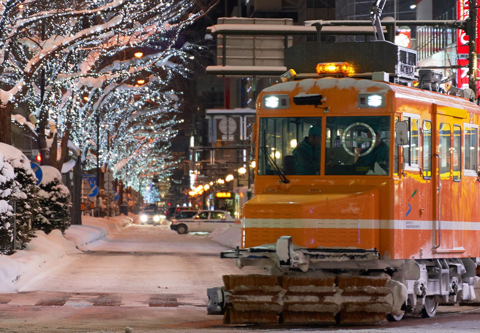 Sapporo with snow