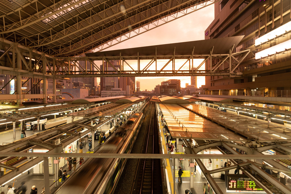 Osaka Station at twilight