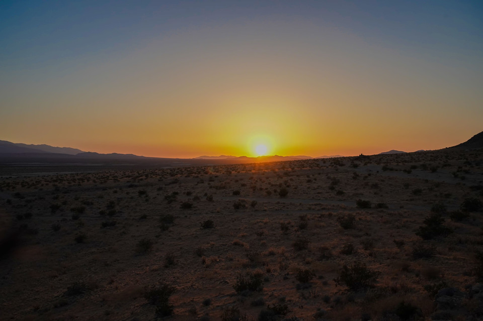 Sunset of desert