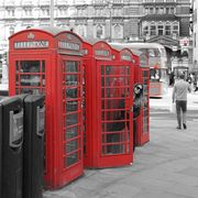 London with color effect