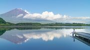 Reflection of Fuji from 田貫湖