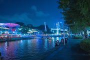 Midnight in Clarke Quay
