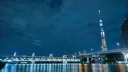 summer night walk by the sumida river