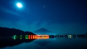 Strawberry Moon with Mt. Fuji