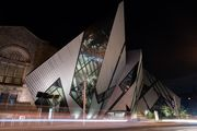 Night view of the Royal Ontario Museum